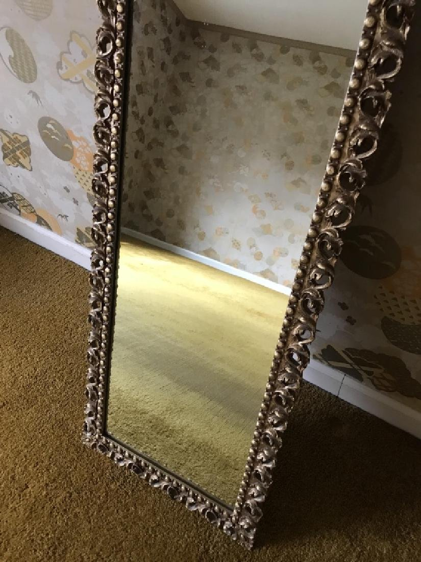Gold Tone Arched Top Italian Baroque Style Mirror - 3