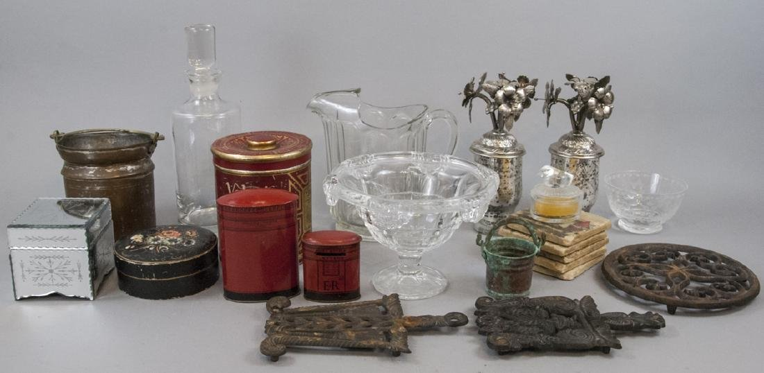 Collection of Antique & Vintage Glass Ware, etc