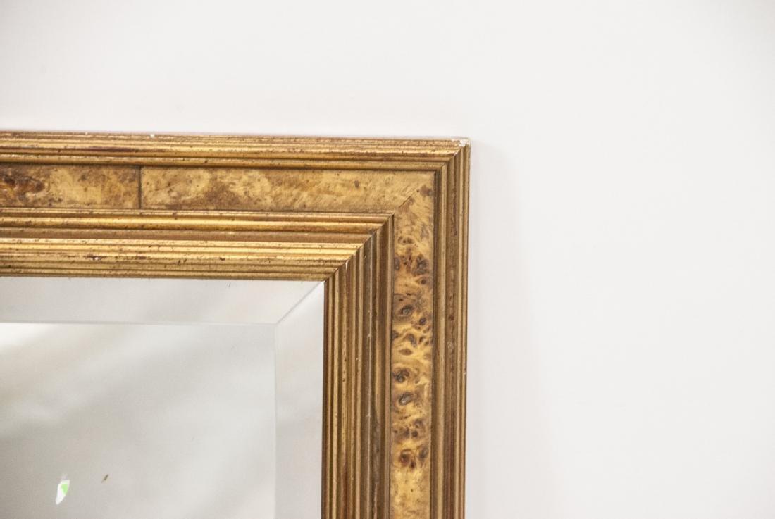 Custom Made Banded Burl Wood Wall Mirror - 3