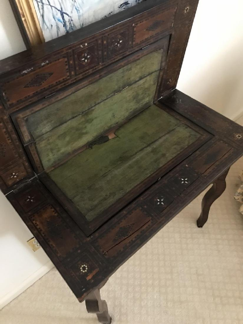 Antique 19th C Turkish Inlaid Games Table Console - 4