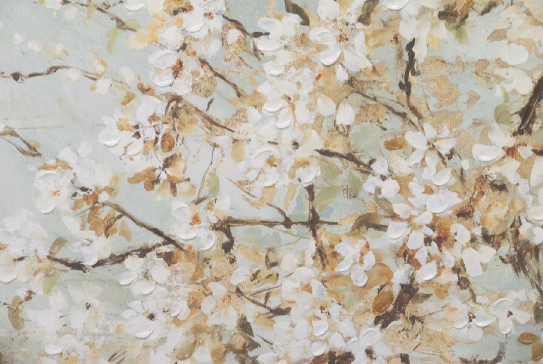 Oil On Canvas Blossom Painting - 2