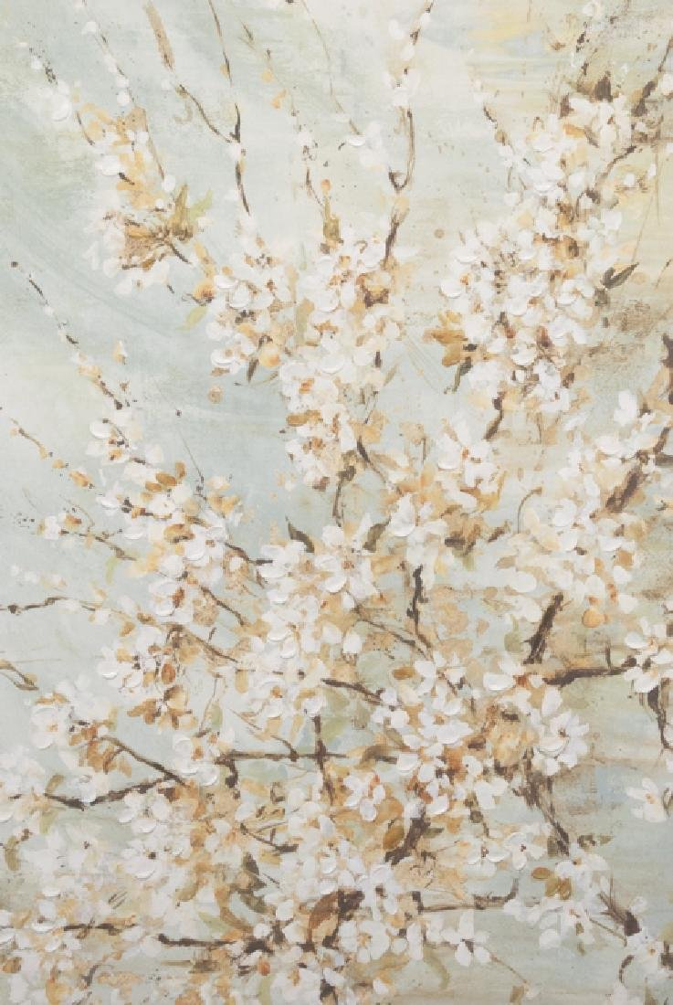 Oil On Canvas Blossom Painting - 5
