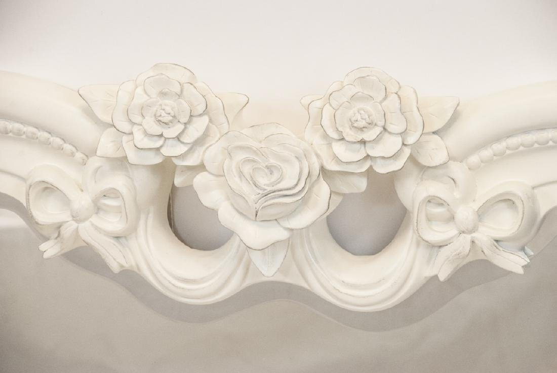 Contemporary White Heart Shaped Wall Mirror - 3