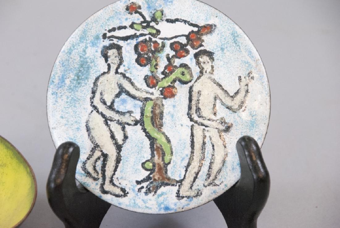 Grace Huntley Pugh Mid Century Enamel Artwork - 2
