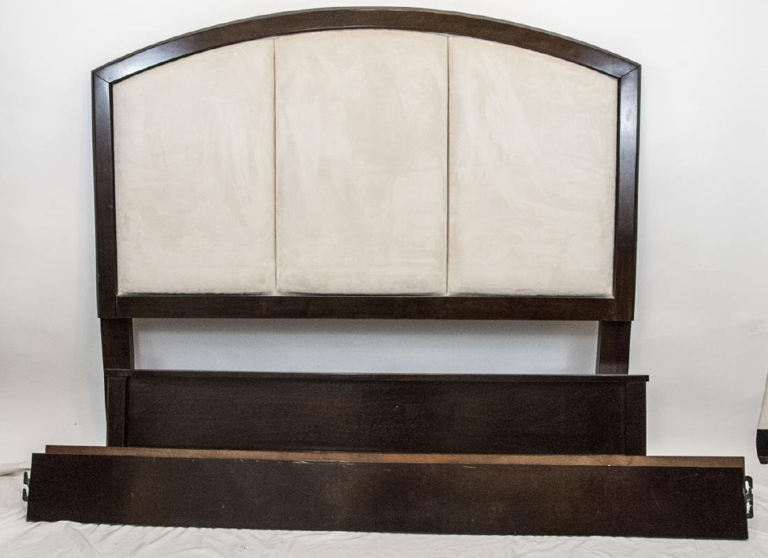 Queen Sized Ashley Upholstered Headboard & Frame