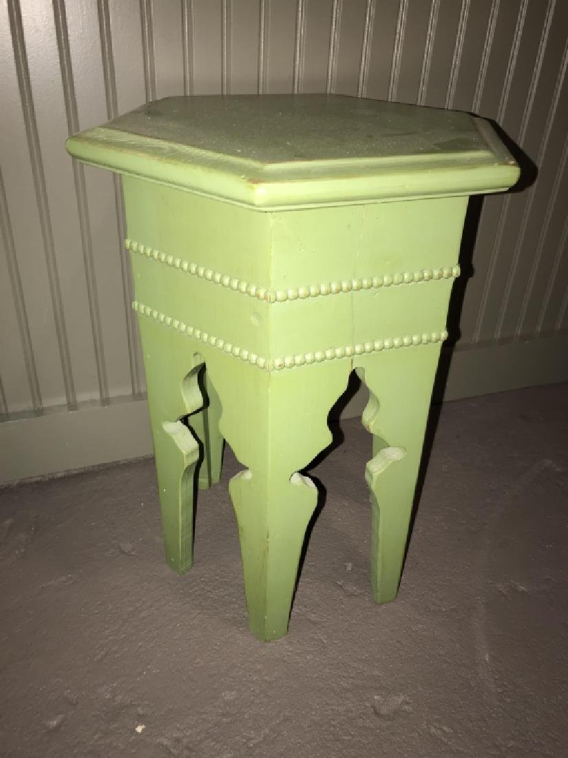 Moroccan / Moorish Style Hand Painted End Table - 2