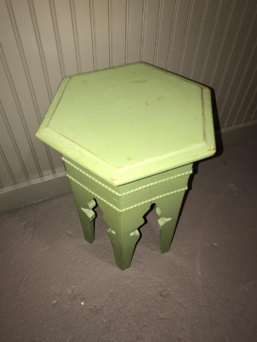 Moroccan / Moorish Style Hand Painted End Table - 3