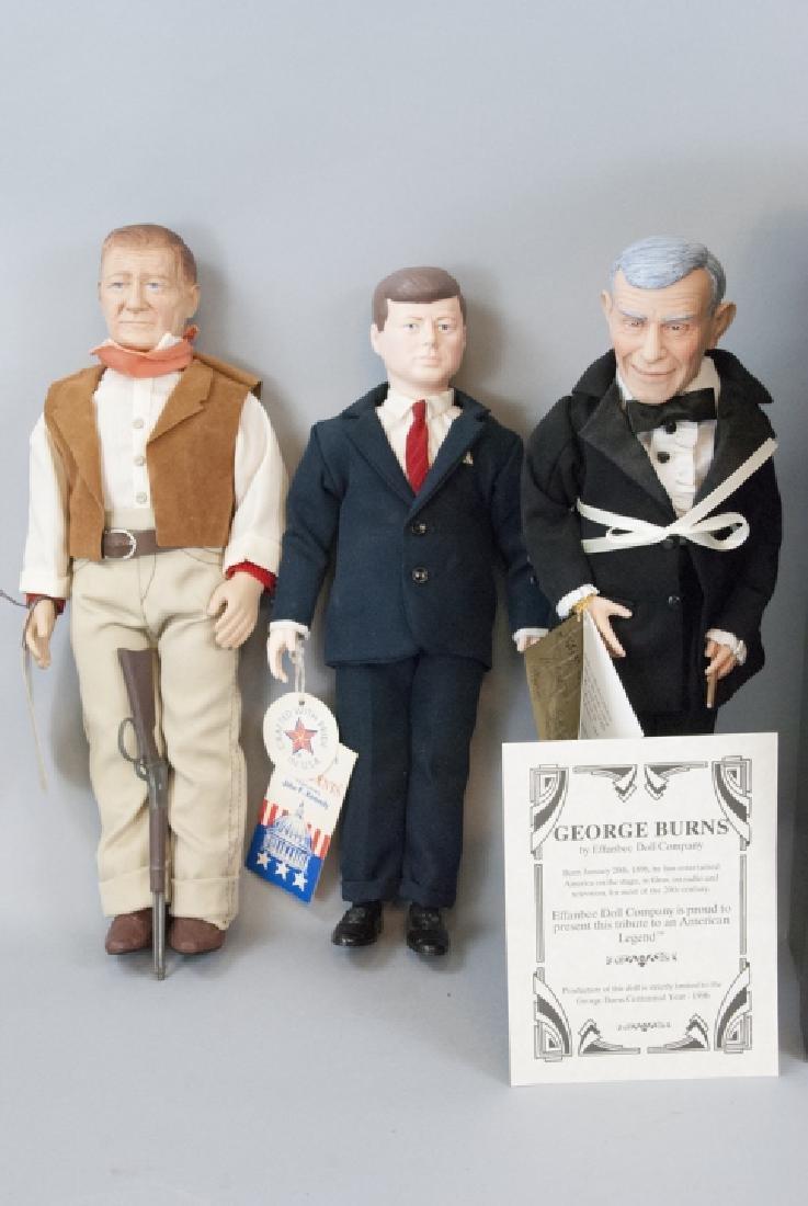 Effanbee Vintage Dolls, John Wayne, JFK, G. Burns - 4