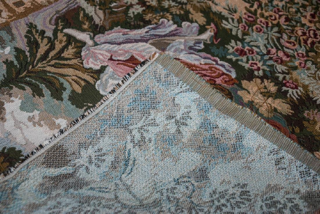 Pair Vintage Wall Hanging Tapestry Panels - 3