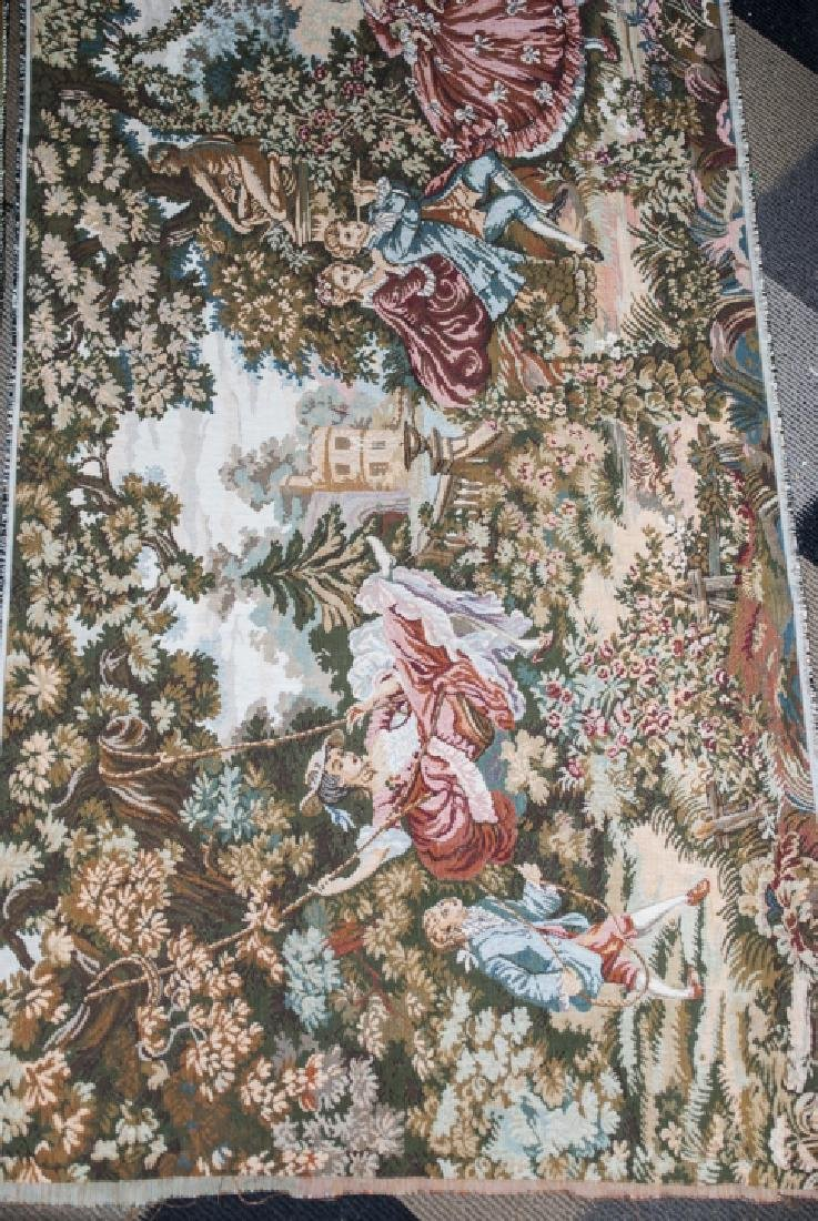Pair Vintage Wall Hanging Tapestry Panels - 5