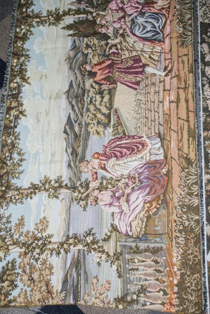 Pair Vintage Wall Hanging Tapestry Panels - 6