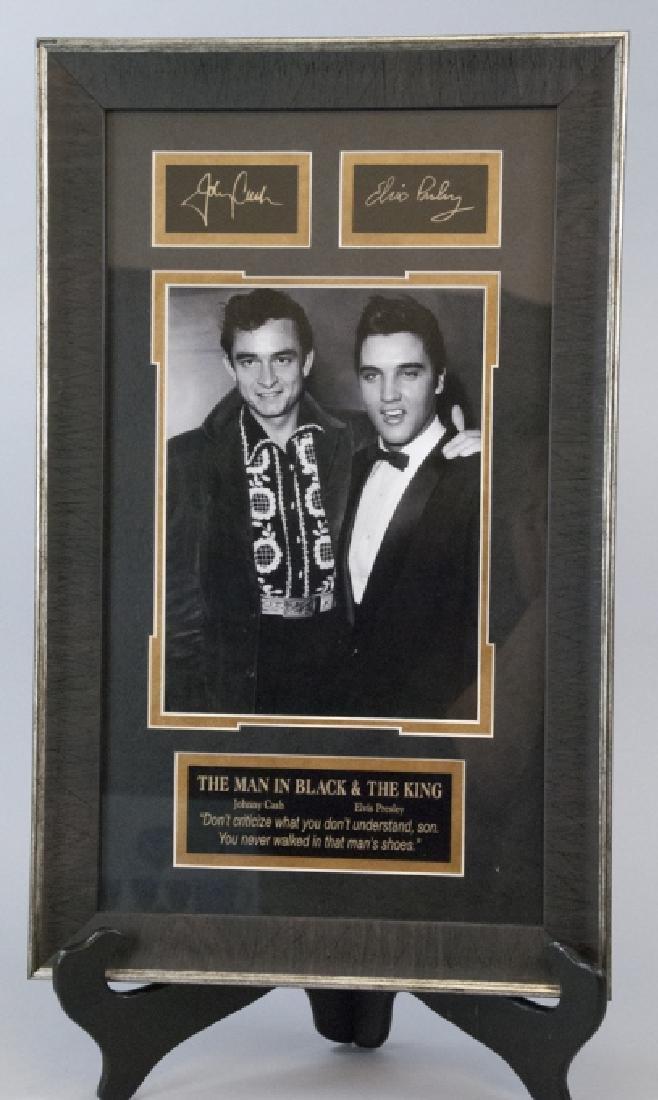 Memorabilia Johnny Cash Elvis Presley Framed Photo
