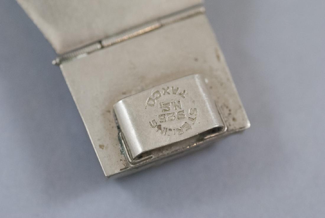 Vintage Mexico Sterling Silver Bracelet & Brooch - 4