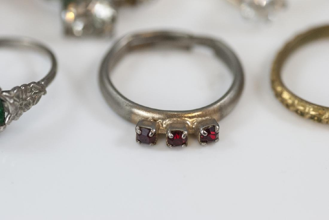 Group Antique Gold Filled, Plated & Silver Rings - 3