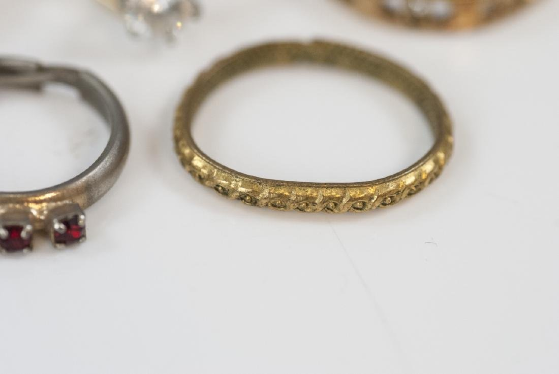 Group Antique Gold Filled, Plated & Silver Rings - 4