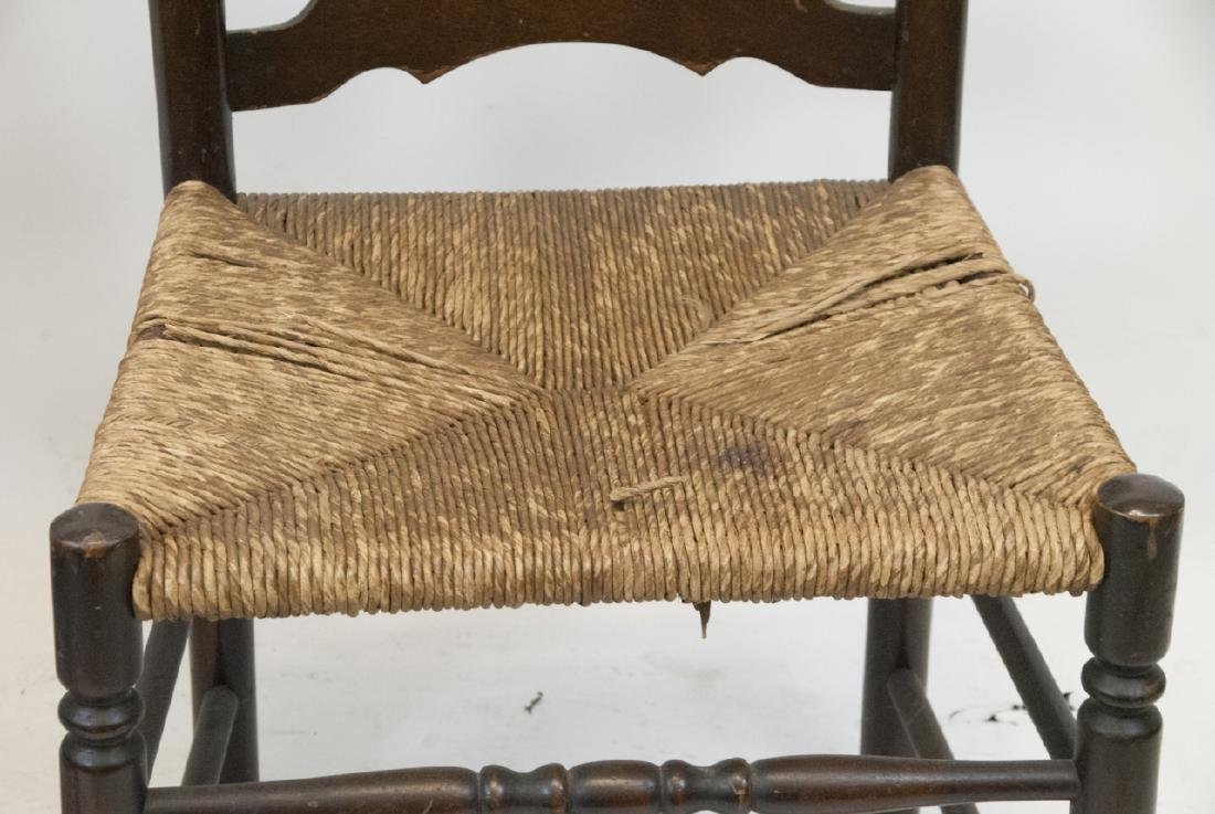 Antique Ladder Back & Caned Rocking Chair - 2