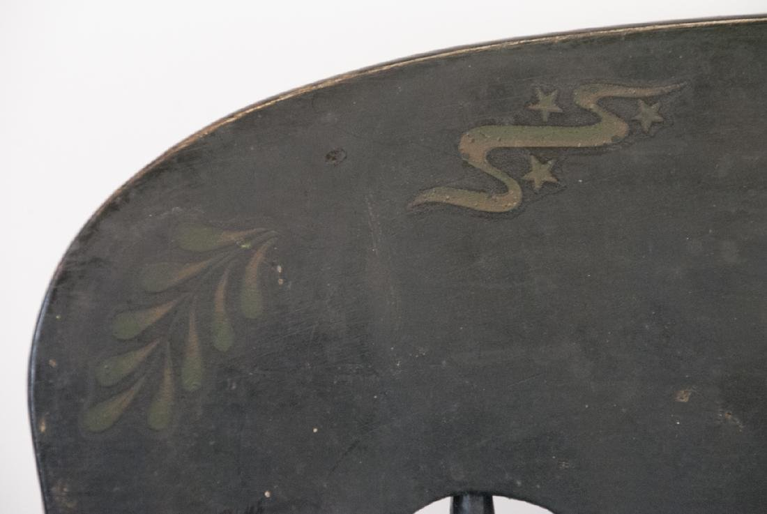 Antique Hitchcock Style Rocker Eagle Stencil - 9