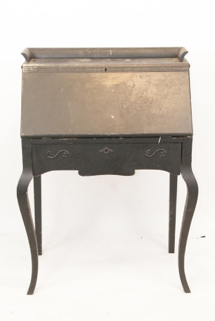 Antique Slant Top Pine Desk