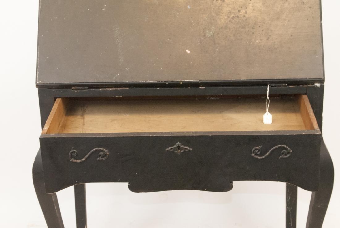 Antique Slant Top Pine Desk - 4