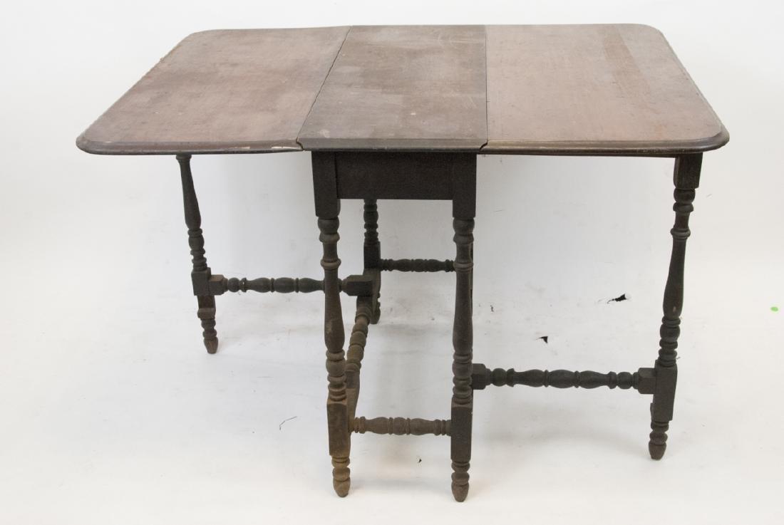 Antique Drop Leaf Gate Leg Dining Table - 2