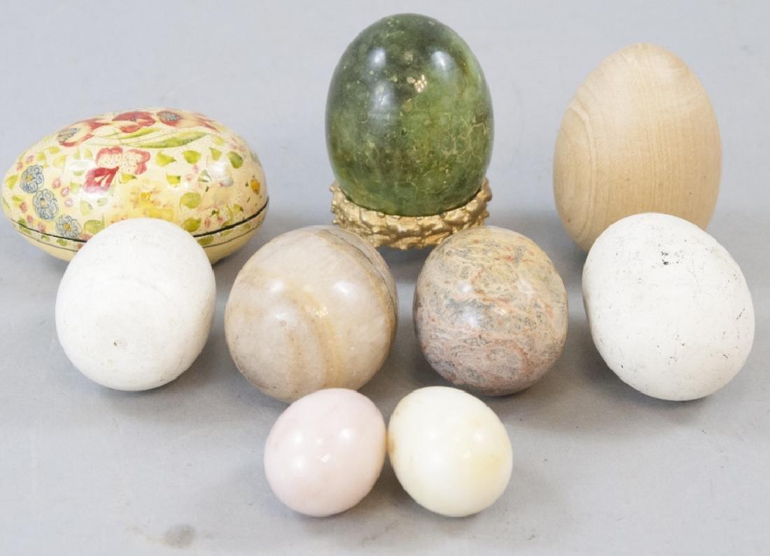Vintage & Antique Marble & Wood Egg Figurines