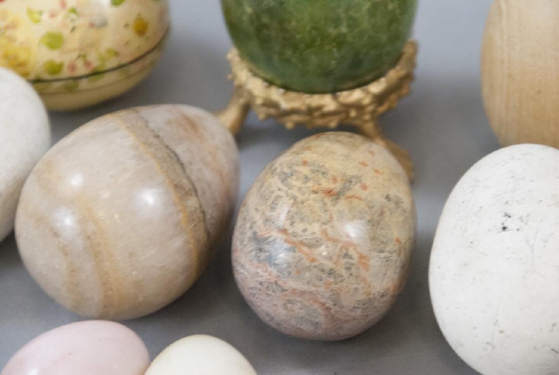Vintage & Antique Marble & Wood Egg Figurines - 6