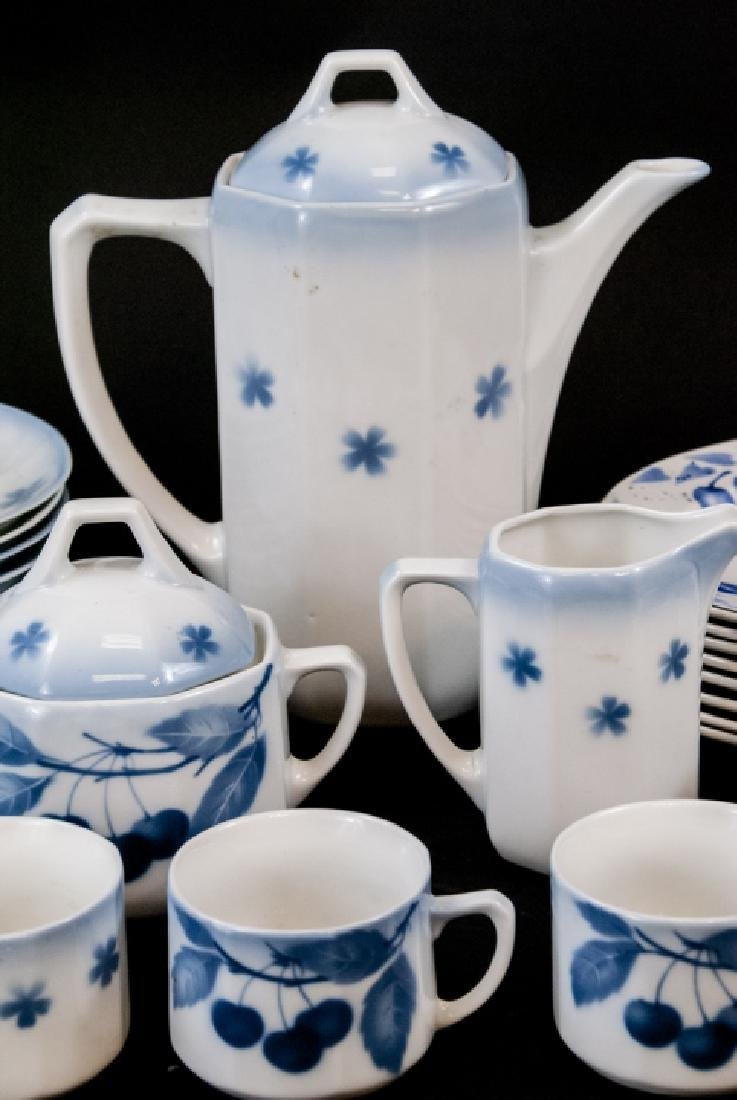 Two Sets Of Vintage Blue & White Cherries China - 10