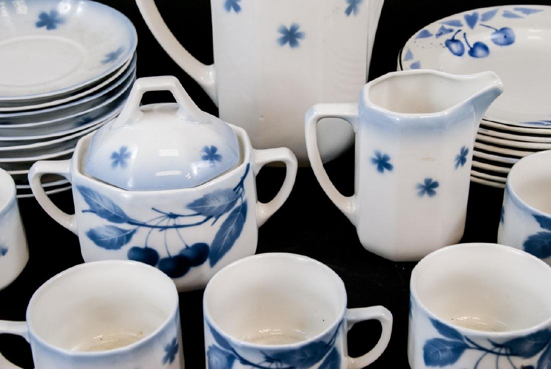 Two Sets Of Vintage Blue & White Cherries China - 2