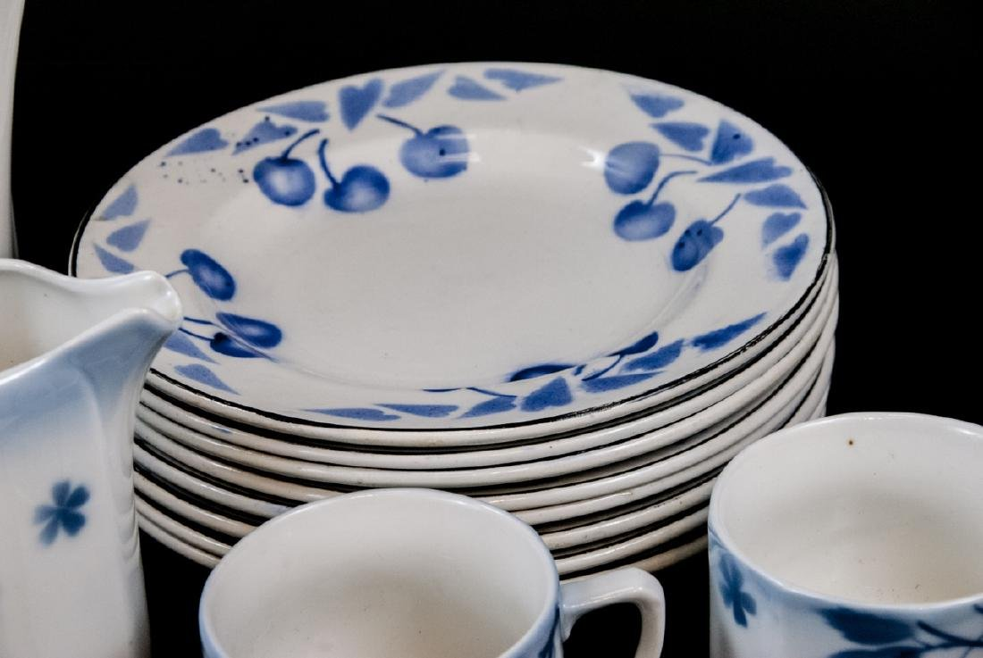 Two Sets Of Vintage Blue & White Cherries China - 3