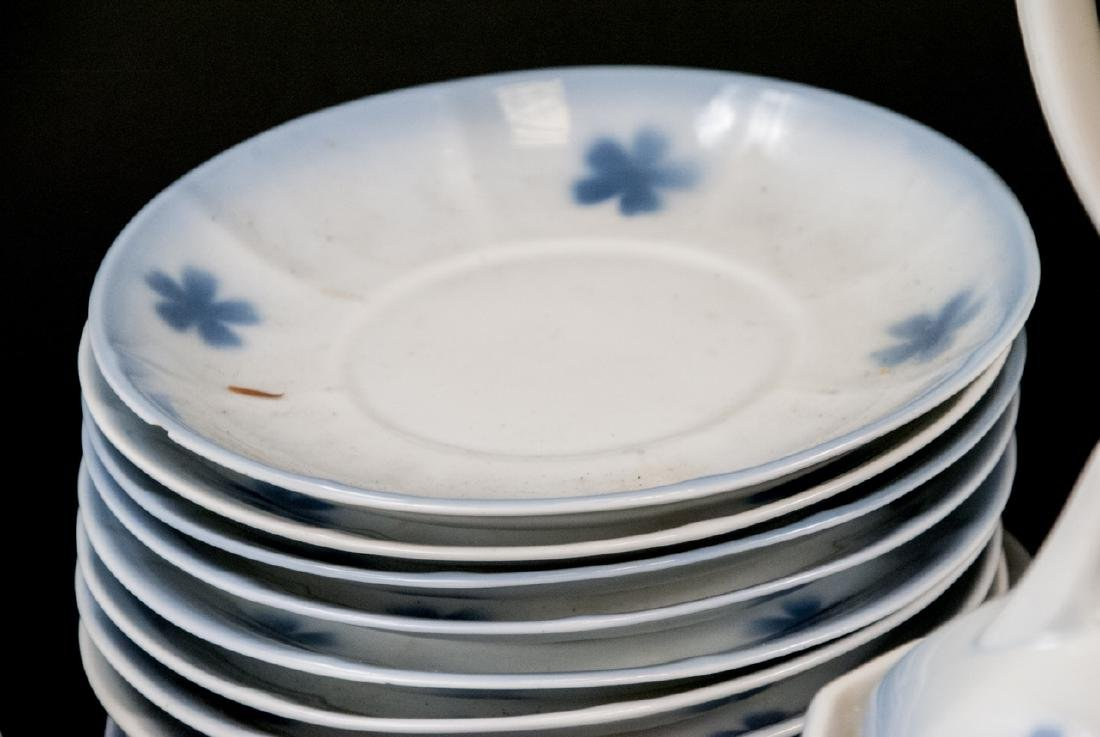 Two Sets Of Vintage Blue & White Cherries China - 4