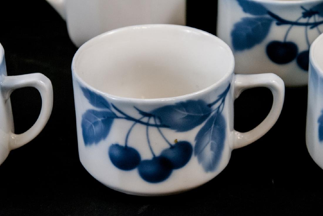Two Sets Of Vintage Blue & White Cherries China - 5