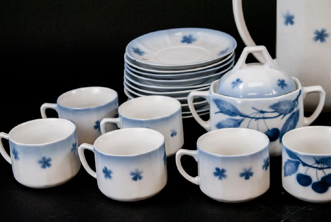 Two Sets Of Vintage Blue & White Cherries China - 9