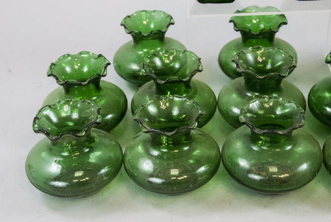 Assorted Lot Of Transparent Green Glass Items - 6