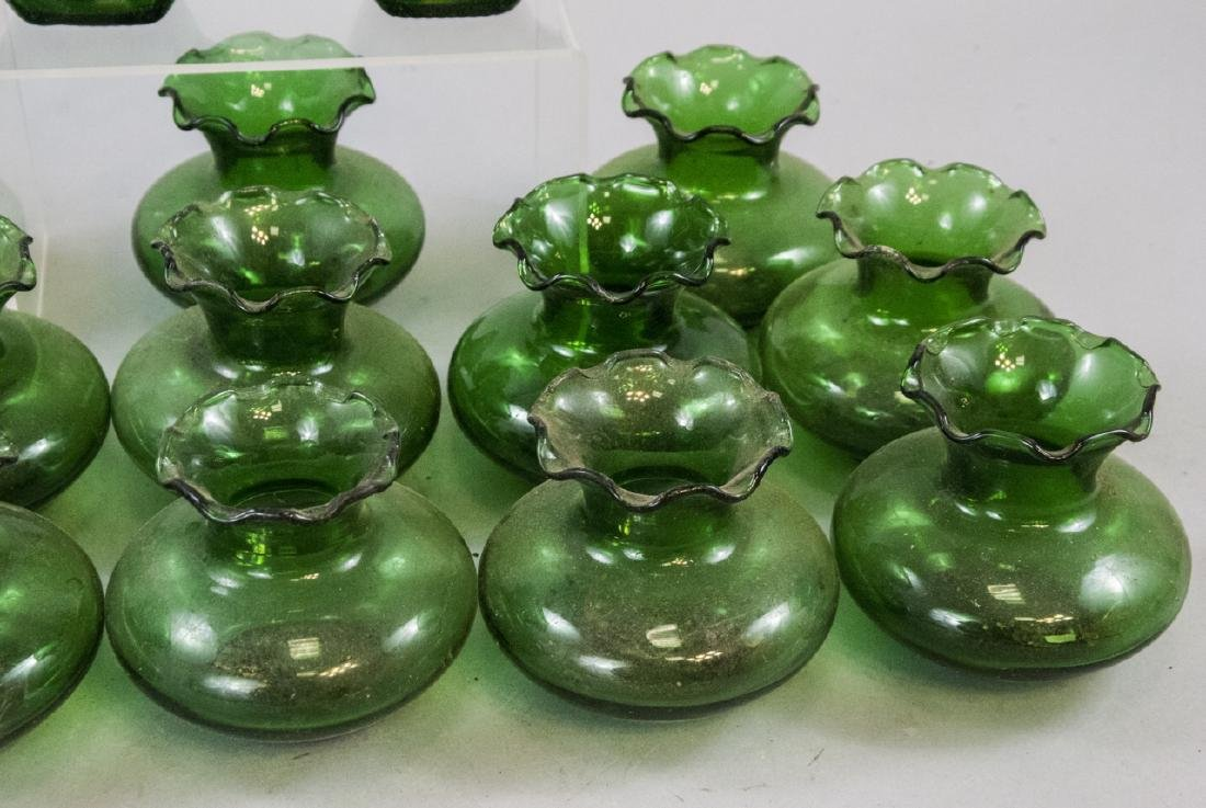 Assorted Lot Of Transparent Green Glass Items - 7