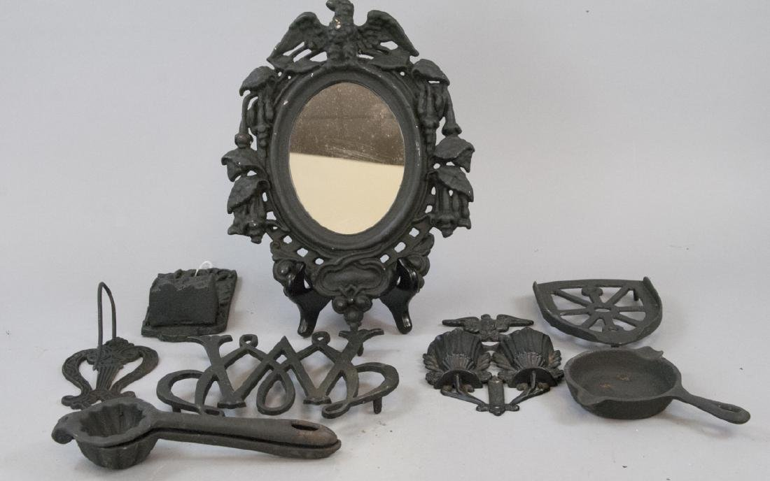Assorted Lot Of Cast Iron Kitchen & Home Items