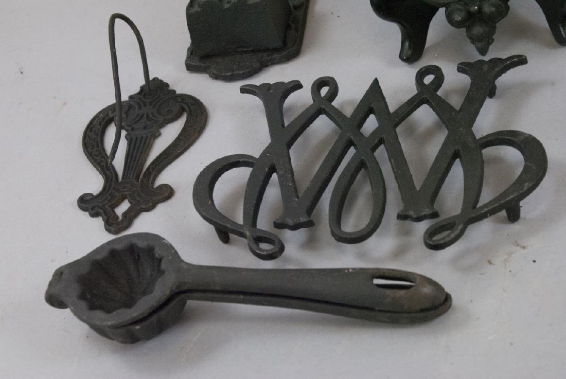 Assorted Lot Of Cast Iron Kitchen & Home Items - 2