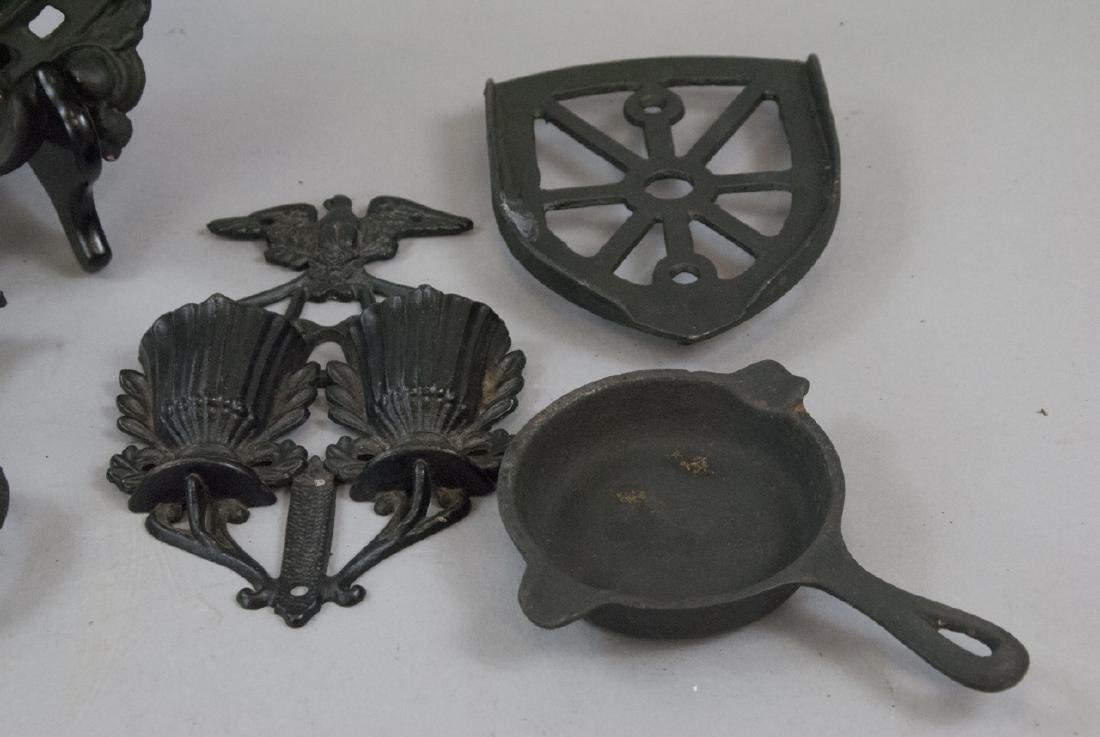 Assorted Lot Of Cast Iron Kitchen & Home Items - 5