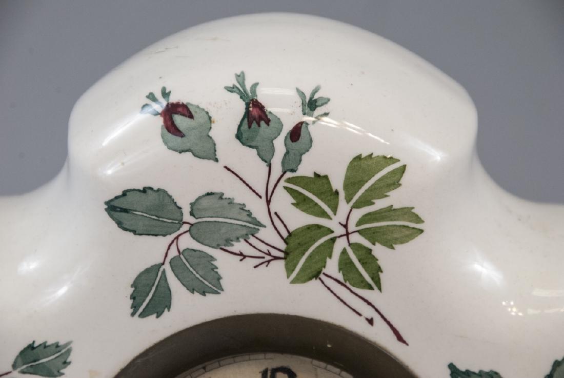 Antique German Porcelain Mantle Clock - 2