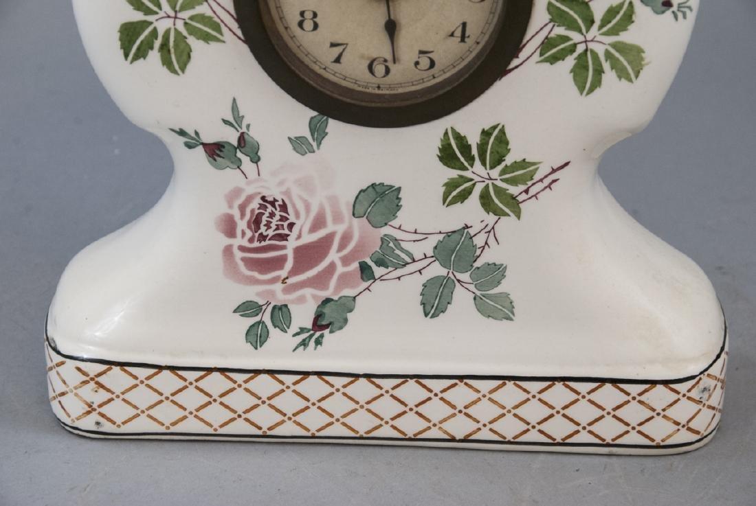 Antique German Porcelain Mantle Clock - 3
