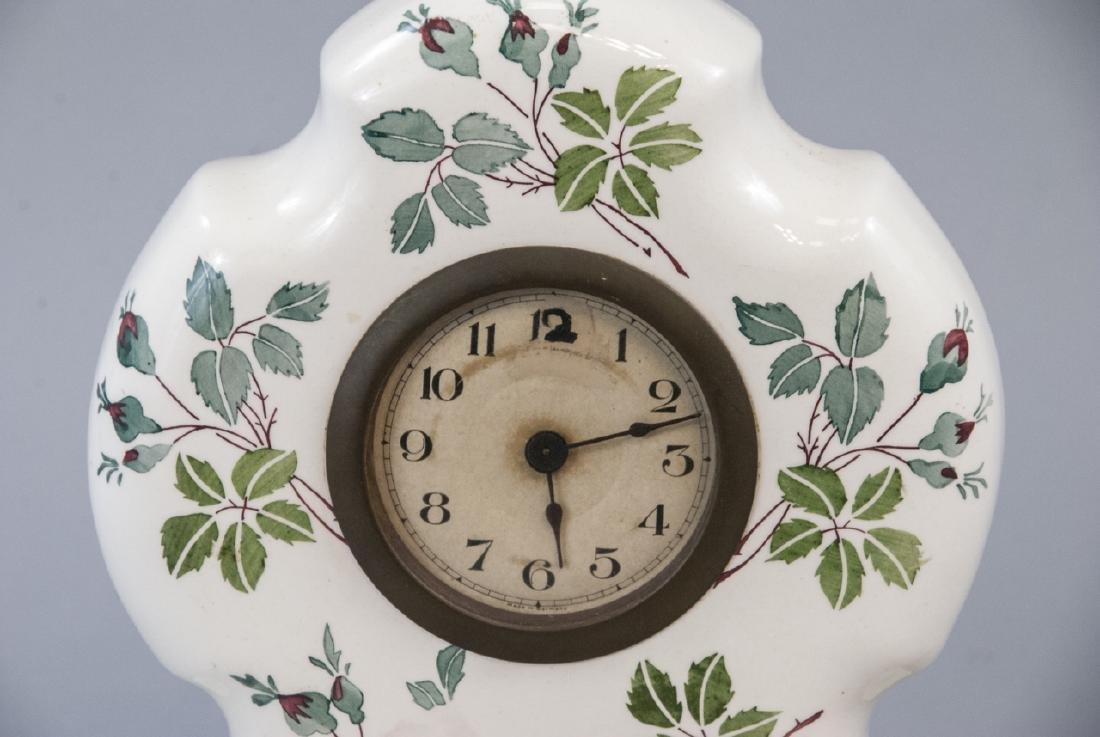 Antique German Porcelain Mantle Clock - 5