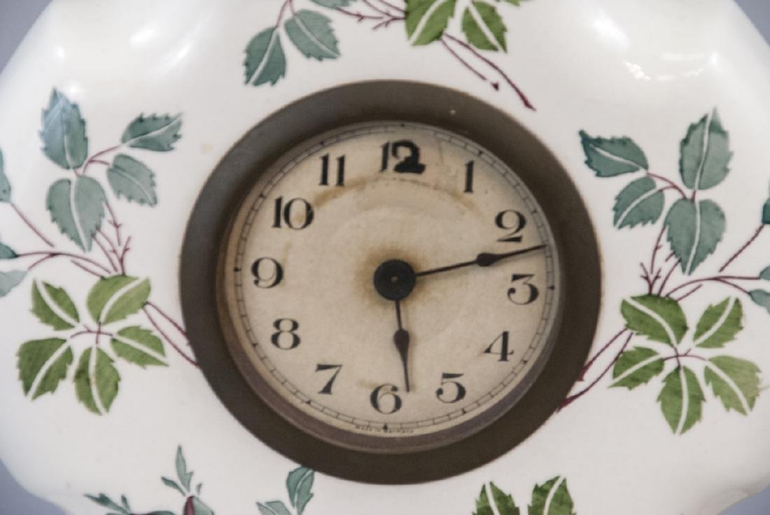 Antique German Porcelain Mantle Clock - 6