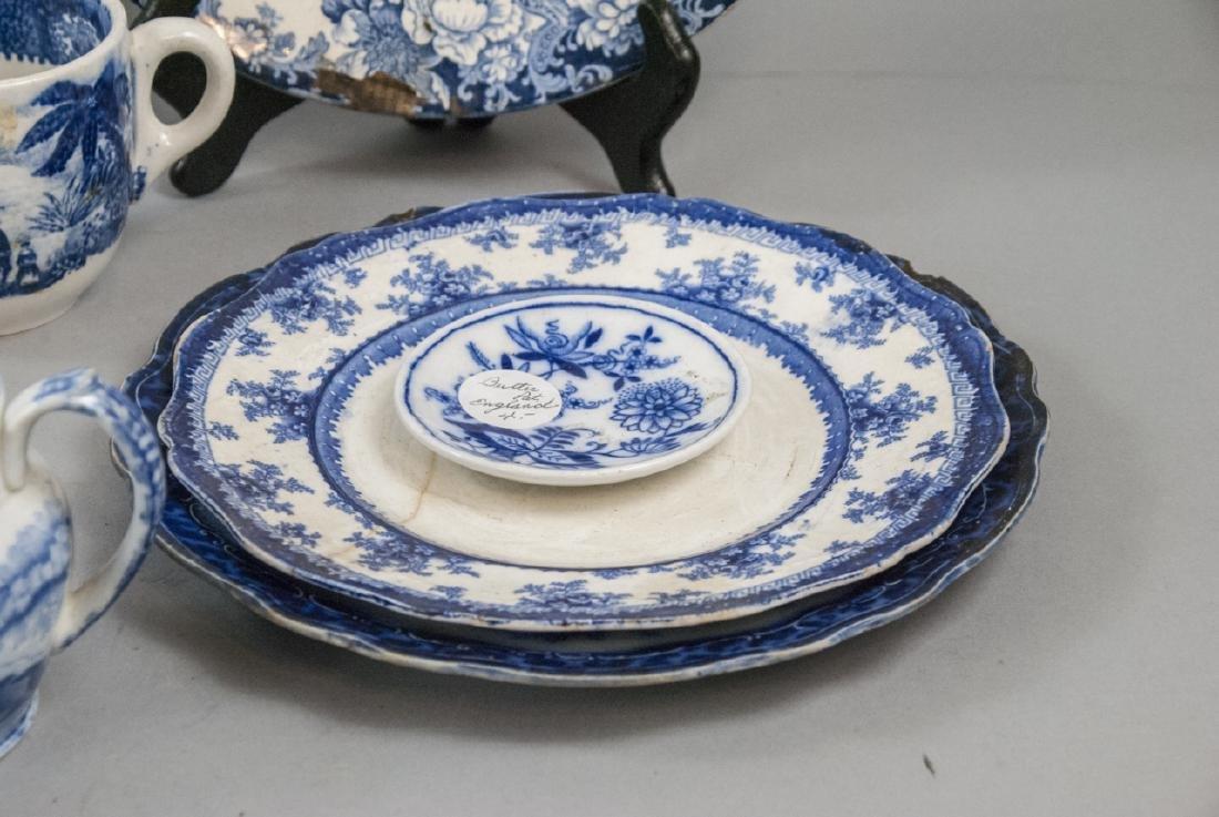 Lot Of English Blue & White Transfer Ware China - 4