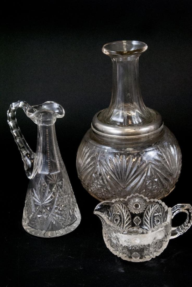 Lot Of Crystal & Cut Glass Decanters & Dispensers - 2