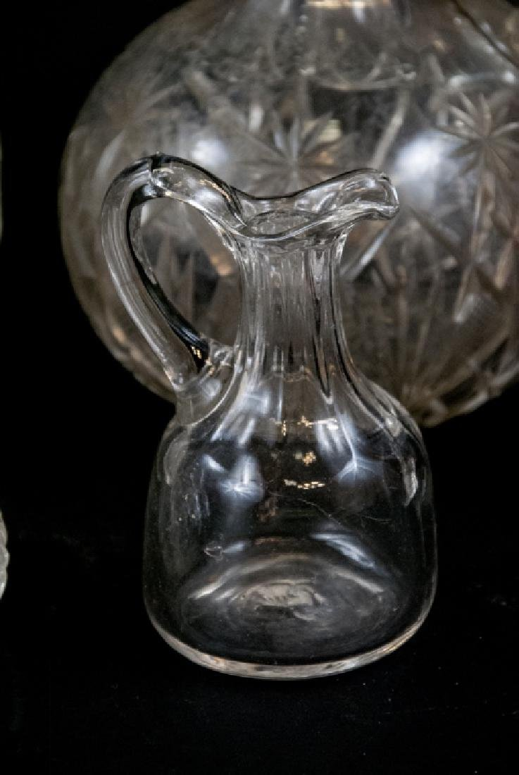 Lot Of Crystal & Cut Glass Decanters & Dispensers - 7