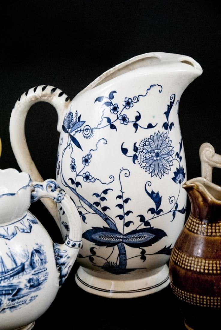 Six Vintage Porcelain / Ironstone Pitchers - 2