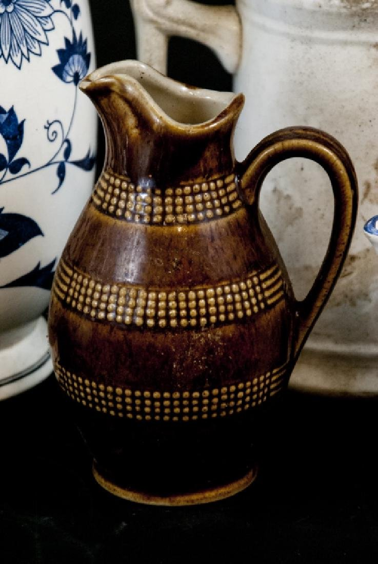 Six Vintage Porcelain / Ironstone Pitchers - 3