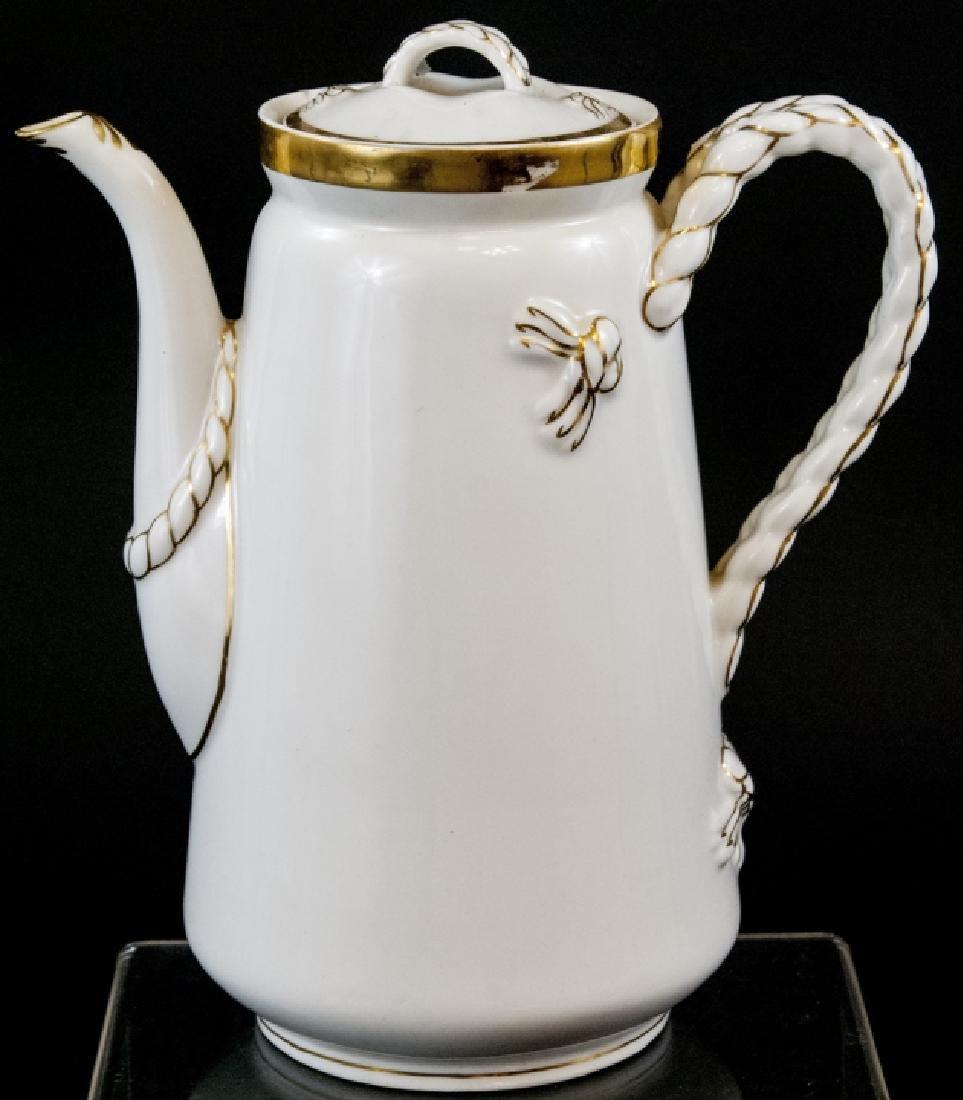 Antique Limoge White Porcelain Pitcher