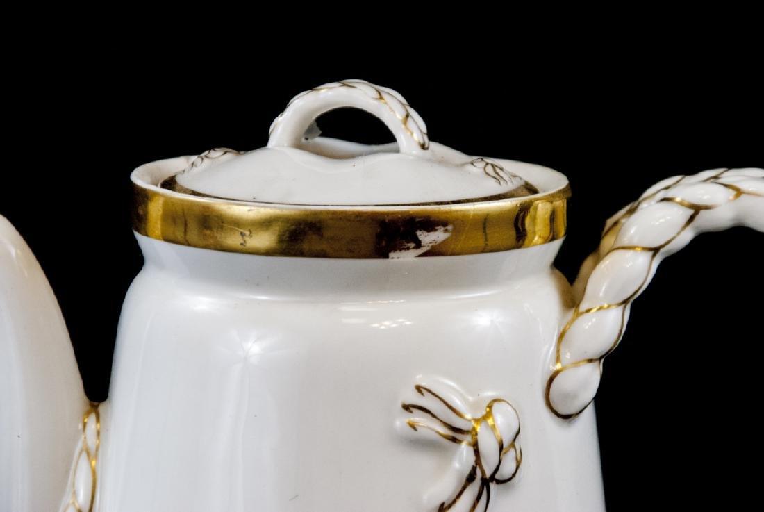 Antique Limoge White Porcelain Pitcher - 2