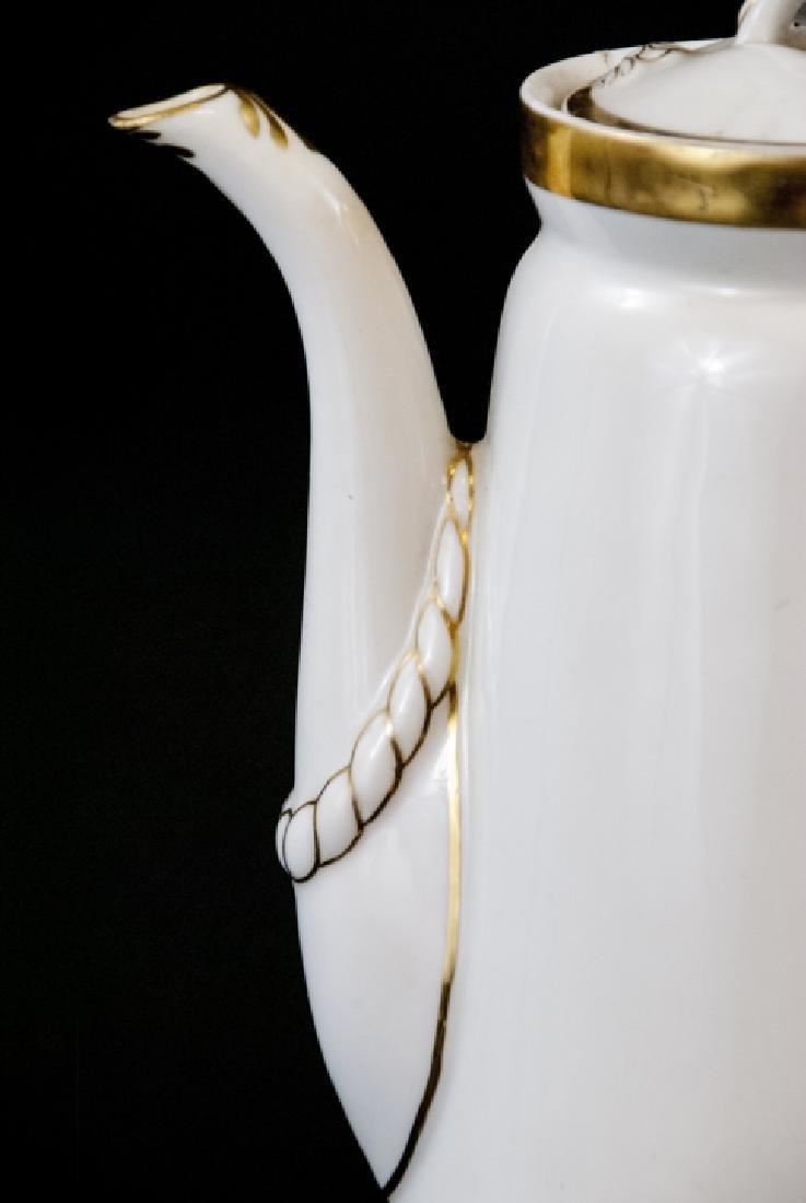 Antique Limoge White Porcelain Pitcher - 4