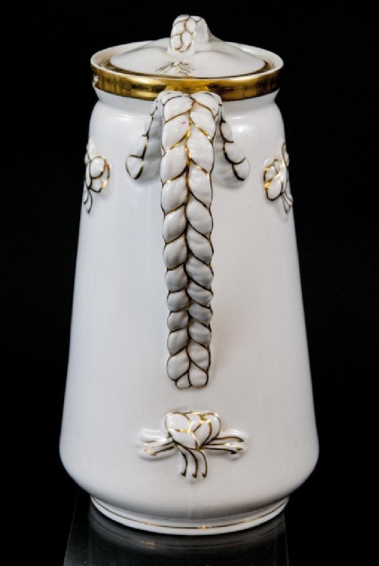 Antique Limoge White Porcelain Pitcher - 5